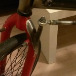 cargobike steering close-up