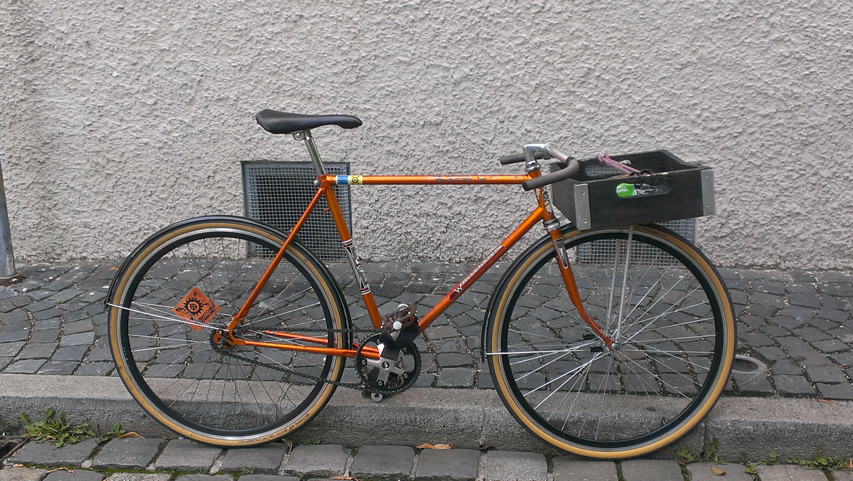 "our ""porteur""-bicycle Albright"