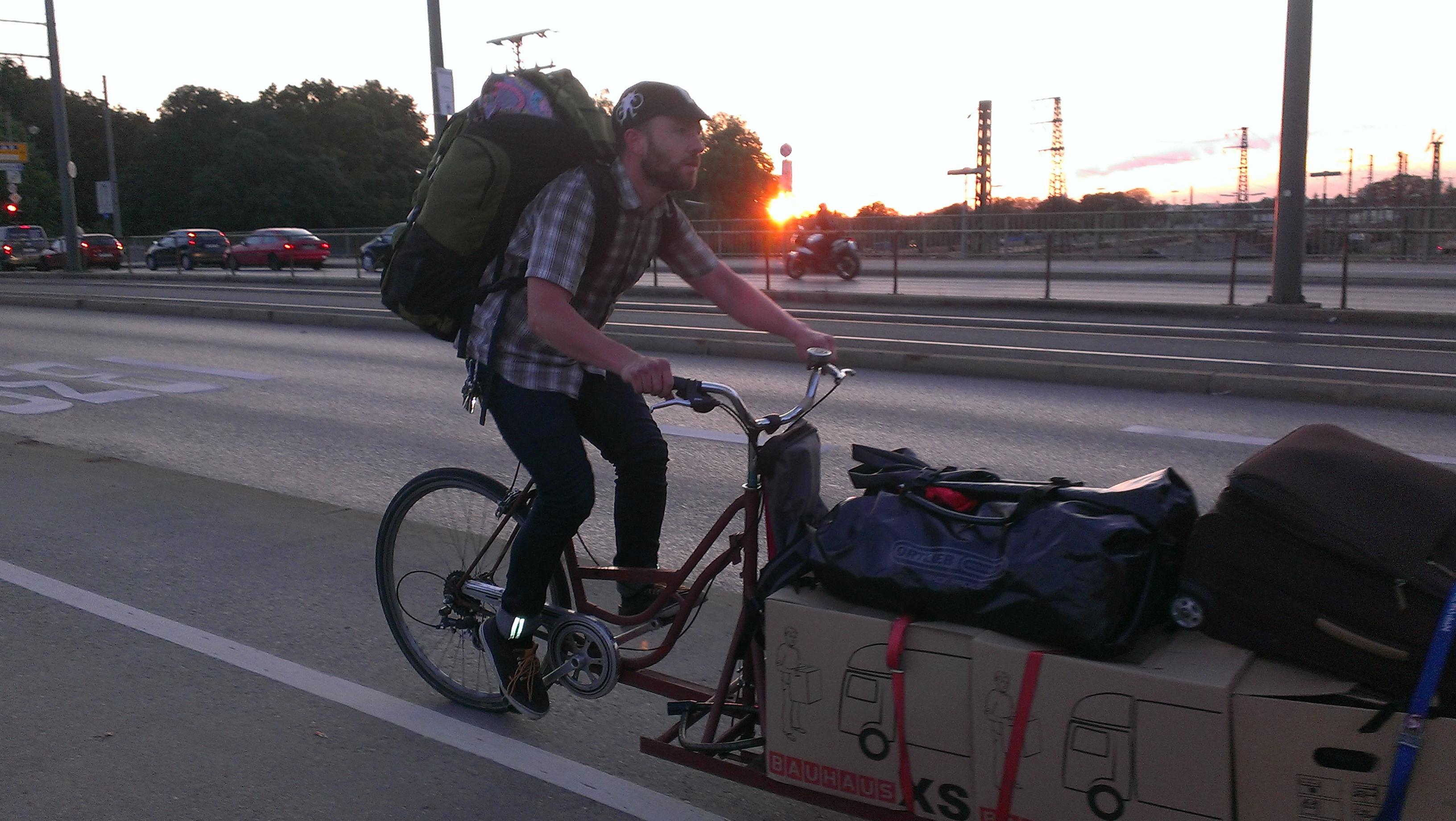 move by bike: first careful run