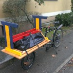 kids desk on the cargobike