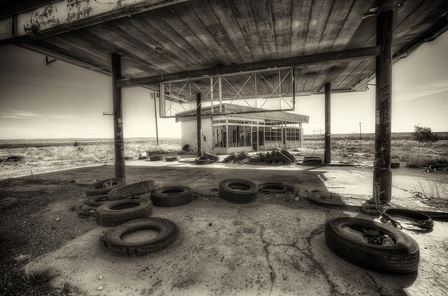 gasstation in NM by Harry Pherson
