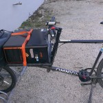 Computer on the cargo bike