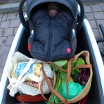 Anouks first ride to the grocery store