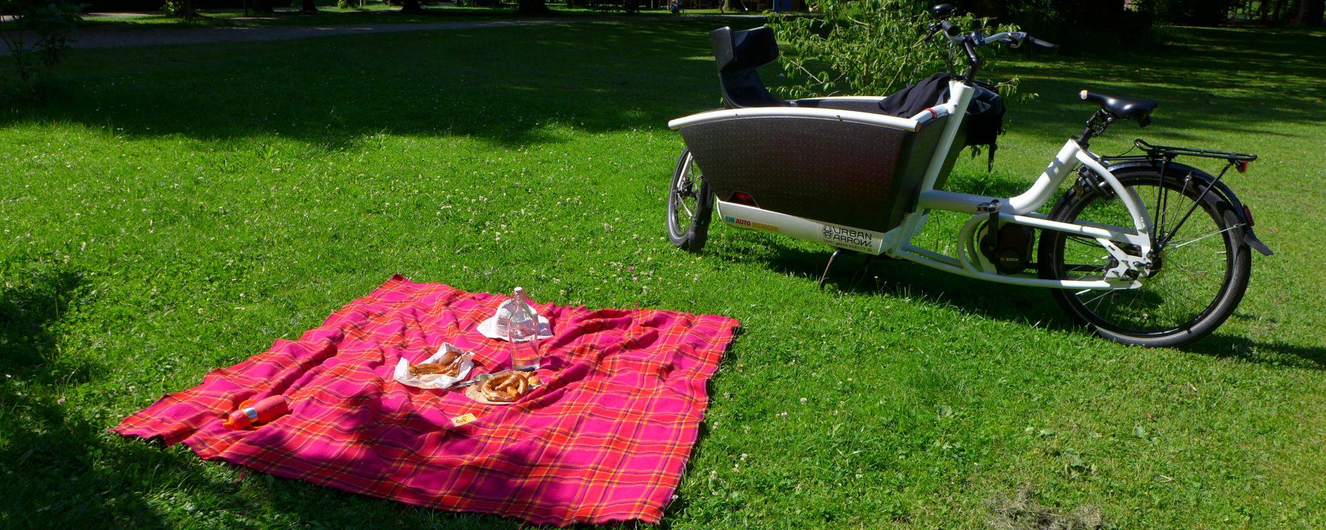 erstes Augsburger Lastenrad Picknick am 23.07.2016