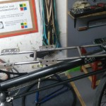 a child seat seat on the Omnium Cargo bike - step5