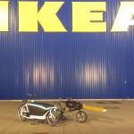 our cargobikes at IKEA