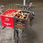 yummy drinks on the cargo bike