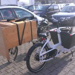 the changing-table on the cargobike