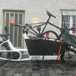 the Urban Arrow carrying the Omnium cargo bike