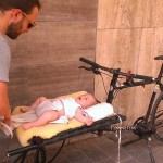 Bikes With multiple purposes: cargo bike as changing table