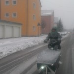 Riding pregnant in the german winter