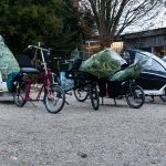 11 bikes inluding plenty of cargobikes and some trailers picking up christmas trees